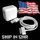 10W USB Wall Charger Adapter+Cable For iPod iPad iPad 2 iPhone 4/3GS