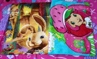 Cotto​n 2pcs 52x100cm Rosita Fresita Girl+Rabit Beach Bath Towel NEW