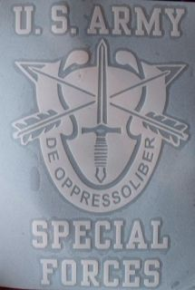 Army Special Forces vinyl window sticker/decal/​sign