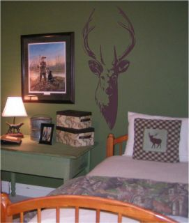Deer Buck Head vinyl wall art decal saying sticker mural