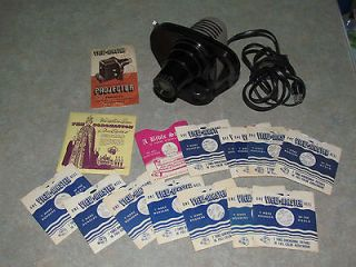 VIEW MASTER LOT Electric Projector Machine (Works) + 14 Viewmaster