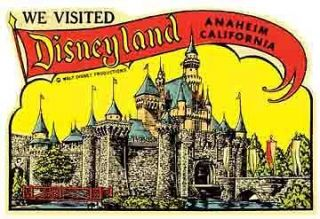 Disneyland Anaheim, CA Vintage Lookin​g 1950s Travel Decal