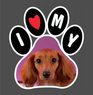My Dachshund Wiener Dog Paw Print truck car window laptop vinyl decal