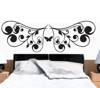 Wall Stickers Vinyl Art Decal headboard butterfly