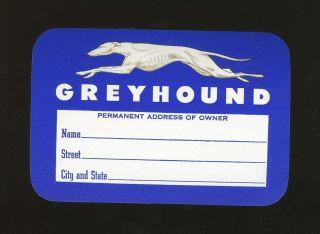 1940s? Vintage Luggage Label Greyhound Bus Lines
