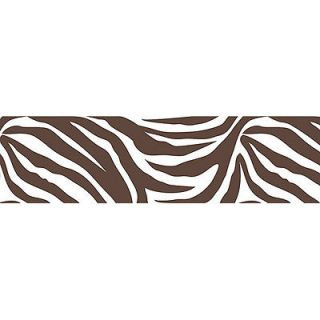 BROWN ZEBRA PRINT 16 Wall Border Wallpops Animal Stripe Sticker Room