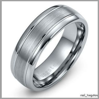 MENS TUNGSTEN CARBIDE RING WEDDING BAND SIZES 5   12