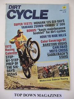 Dirt Cycle Magazine April 1973 Motocross Sidecar Racing
