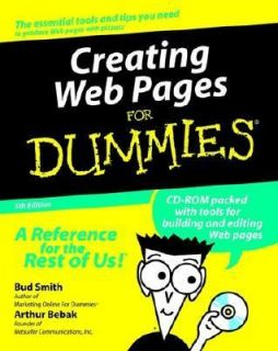 Creating Web Pages for Dummies by Bud E. Smith 2000, Paperback