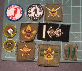 Vintage BSA Boy Scout Rank Patches and Merit badges