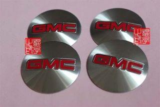 4PCS GMC CAR LOGO WHEEL CENTER CAP DECAL STICKERS EMBLEM BADGE