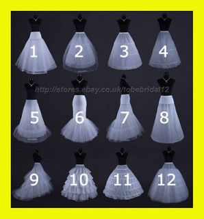 WHITE OR BLACK BRIDAL WEDDING DRESS /PROM PETTICOAT/UNDE​RSKIRT