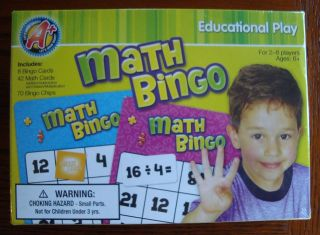 Math Bingo Counting Teaching Teacher Supply Homeschool Educational