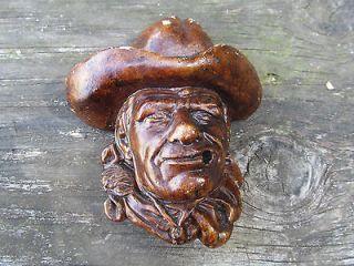Cowboy Smoking Man. John Wayne. Cigarette Statue, Wall Hanging, Bust