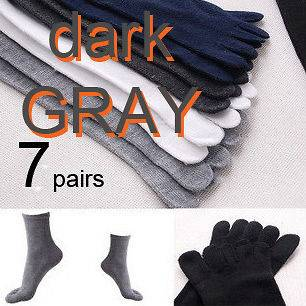 Pairs of five 5 fingers 5fingers Toe Socks   DARKGRAY