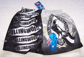 Collingwood Magpies AFL Mens Satin Boxer Shorts Size M New