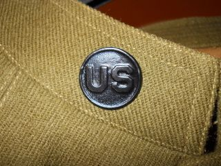 ORIGINAL WW1 Vintage U.S. ARMY ENLISTED MAN EM COLLAR DISK INSIGNIA
