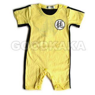 Bruce Lee Kung Fu Bodysuit for Baby Boy Kid Child Romper Party