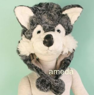 WOLF SIBERIAN HUSKY DOG COSTUME PARTY HAT CAP MASK HALLOWEEN BIRTHDAY