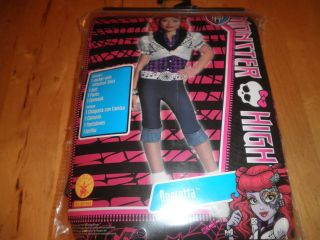 NEW GIRLS MONSTER HIGH OPERETTA COSTUME LARGE 10/12