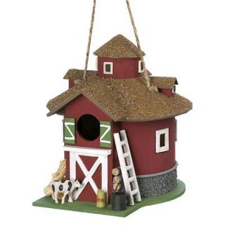 Old Fashioned Red Barn Country Farm Barnyard Birdhouse Bird House
