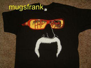 Hulk Hogan Fear the Fu Wrestling Black T Shirt