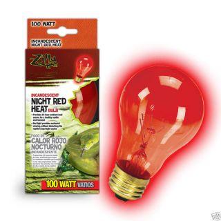 Zilla Reptile Night Light Red Heat Bulb 100 w 100 watt