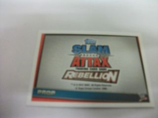 WWE SLAM ATTAX REBELLION PROP CARDS, CHOOSE WHICH CARD YOU WANT, NEW