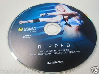 Zumba Ripped Workout DVD from the Exhilarate DVDs set Have fun while