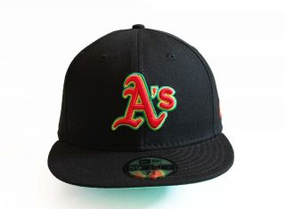 New Era 5950   Oakland As RASTA   MLB Baseball Cap Hat