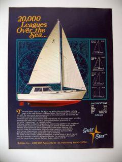 Gulfstar 43 Motor Sailer yacht boat 1970 print Ad