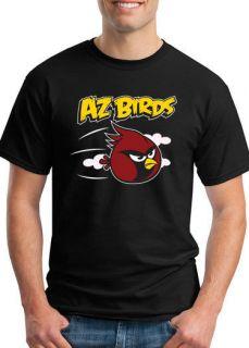 Mens Tshirt Arizona Cardinals Tee Angry Birds Shirt Jersey Cards NFL