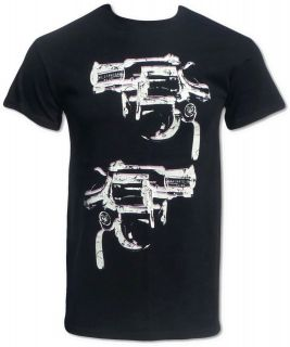 Andy Warhol Inspired Pop Art Revolver Gun T Shirt (Cool Retro 1970s