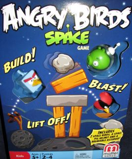 Angry Birds SPACE Game by Mattel New w/ breakable asteroid & space