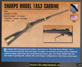 SHARPS MODEL 1853 CARBINE Rifle Gun Atlas Classic Firearms CARD