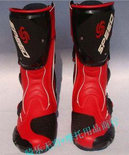 Men Motorcycle Quad bike waterproof racing high fiber Leather Boots