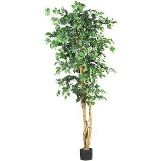 Natural 7 Ficus Silk Tree   Artificial Plant Decor   1260 Leaves
