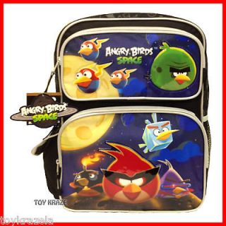 ANGRY BIRDS SPACE BLACK BACKPACK 16 LARGE SCHOOL BAG LICENSED ROVIO