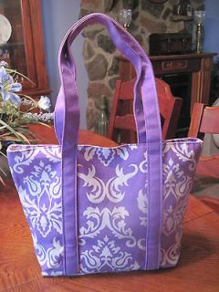 HANDBAG/PURSE, BELVAH PURPLE AND WHITE PRINT, HOBO BAG