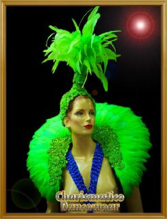CHARISMATICO NEON GREEN Drag QUEEN CABARET BRAZILIAN CARNIVAL