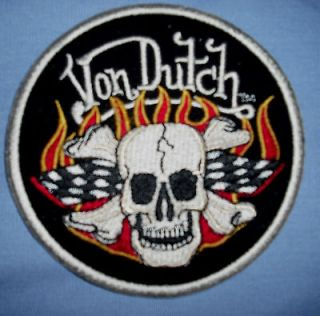 NWT Von Dutch MOTO RACING Patched Chopper/Hot Rod/Shop Mechanic