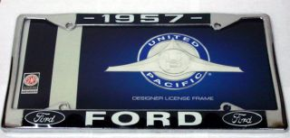LICENSE TAG FRAME FOR FORD 1957 CAR TRUCK TBIRD LICENSE TAG METAL