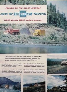 1957 Chevrolet Chevy Truck ORIGINAL OLD AD C MY STORE