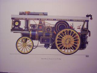 Steam Traction engine showmans Burrell Ex Mayor print by Geoffery