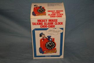 Mickey Mouse Talking Choo Choo Alarm Clock New in ORB and packaging