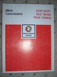 1978 Allison Transmission 5530 5630 5631 Parts Book w