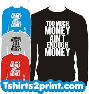 MONEY Sweatshirt CREWNECK Rick Ross MEEK MILL YMCMB DRAKE TAYLOR GANG
