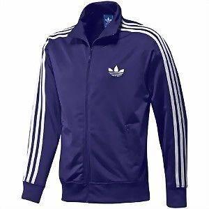 Adidas Originals Firebird Track Top Jacket LARGE L ROYAL PURPLE (White