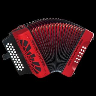 NEW Hohner Compadre Diatonic Accordion EAD MM Red with Gig Bag