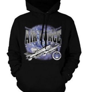 United States Air Force Jet Engine Air Plane Flying In The Sky Hoodie
